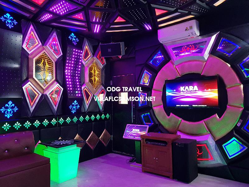Phòng karaoke trong biệt thự FLC Sầm Sơn