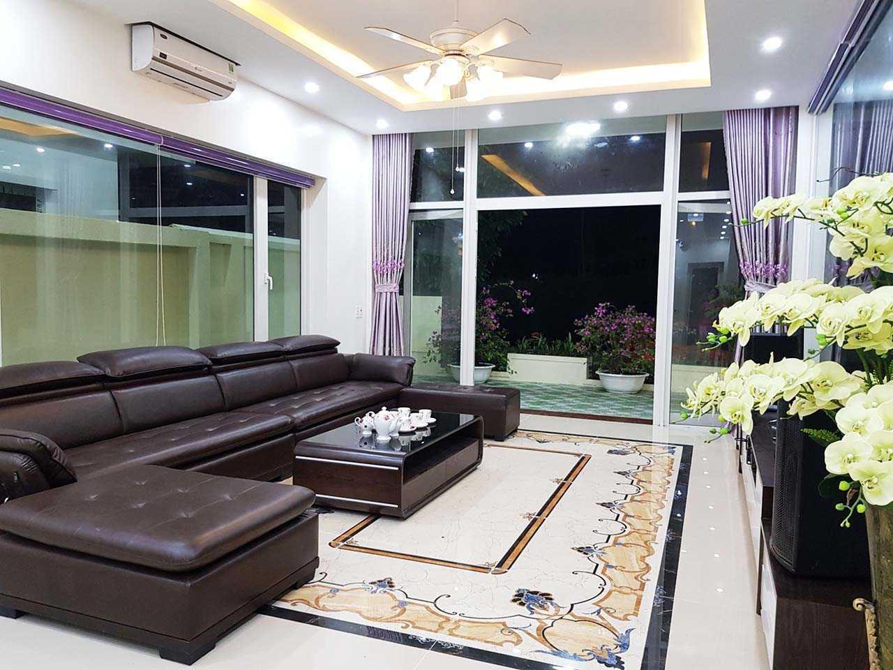 phòng khách villa flc sầm sơn